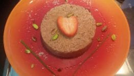 risotto alle fragole e pistacchi