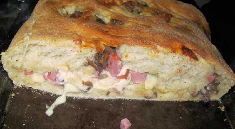 pizza ripiena rustica