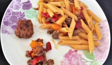 ricetta pastasciutta con peperoni biologici