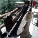 staccionata in legno massello