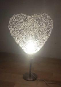 lampada cuore per la festa di san valentino