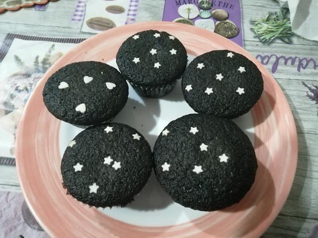 muffin al carbone attivo