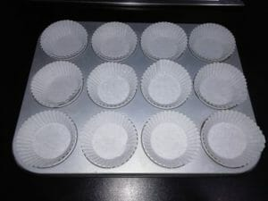 pilottini per muffin al carbone vegetale
