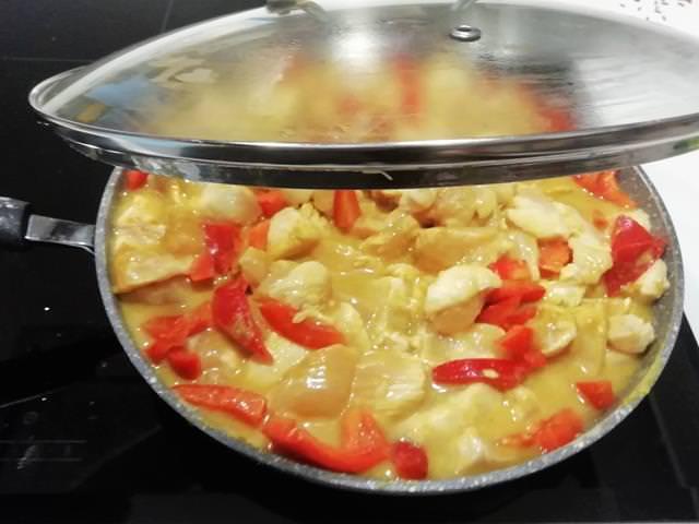 petto di pollo al curry veloce