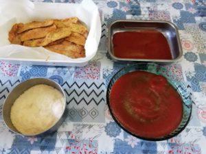 preparazione della ricetta delle melanzane alla parmigiana