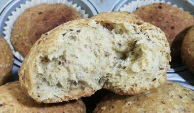 pane proteico con nocciole